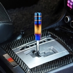 Universal Flame Colorful Long Strip Shape Car Gear Shift Knob Modified Shifter Lever Knob, Length: 13cm