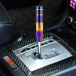 Universal Flame Colorful Long Strip Shape Car Gear Shift Knob Modified Shifter Lever Knob, Length: 18cm