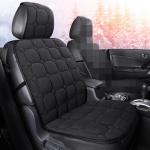 Car Seat Cushion Warmer Cover Winter Seat Mat (Black)