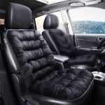 Car Thick Plush Seat Cushion Warmer Cover Winter Seat Mat (Black)