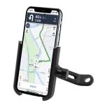 Motorcycle Rotatable Aluminium Alloy Mobile Phone Holder Bracket, Rearview Mirror Version (Black)