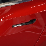 4 PCS Carbon Fiber Car Outside Handle Decorative Sticker for Tesla Model 3