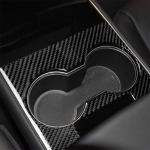 3 PCS Carbon Fiber Car Central Control Decorative Sticker for Tesla Model 3