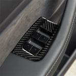 Carbon Fiber Car Window Button Decorative Sticker for Tesla Model 3
