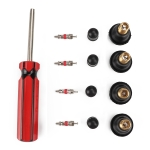 Tire Removal Tool + Tire Valve Set + TR412 for Car Trunk Motorcycles