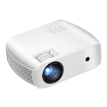 AUN F10UP 4 inch LCD Display Panel 2800 Lumens 1280 x 720P Home Theater Projector with Remote Control, Android 7.1 OS 2GB+16GB, Support Audio / HDMI / USB x 2 (White)