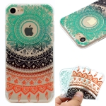 For iPhone 8 & 7 Coloured Drawing Pattern Highly Transparent TPU Protective Case(Colored Flower)