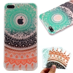 Coloured Drawing Pattern Highly Transparent TPU Protective Case For iPhone 8 Plus & 7 Plus(Colored Flower)