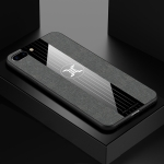 For iPhone 8 & 7 XINLI Stitching Cloth Textue Shockproof TPU Protective Case(Gray)