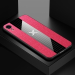 For iPhone XR XINLI Stitching Cloth Textue Shockproof TPU Protective Case(Red)