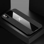 For iPhone X / XS XINLI Stitching Cloth Textue Shockproof TPU Protective Case(Black)