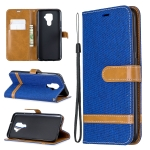 For Huawei Mate 30 Lite Color Matching Denim Texture Horizontal Flip Leather Case with Holder & Card Slots & Wallet & Lanyard(Royal Blue)