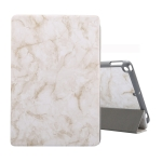 For iPad 10.2 inch Marble Texture Pattern Horizontal Flip Leather Case, with Three-folding Holder & Pen Slot & Sleep / Wake-up Function(Grey)