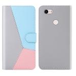 For Google Pixel 3a XL Tricolor Stitching Horizontal Flip TPU + PU Leather Case with Holder & Card Slots & Wallet(Grey)