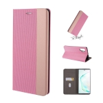 For Galaxy Note 10 Ultrathin Shell Magnetic Horizontal Flip Leather Case with Holder & Card Slots(Pink)