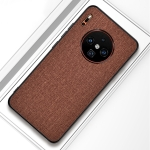 For Huawei Mate 30 Pro Shockproof Cloth Texture PC+ TPU Protective Case(Brown)
