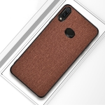 For Galaxy A10s Shockproof Cloth Texture PC+ TPU Protective Case(Brown)