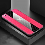 For OPPO  A57 XINLI Stitching Cloth Textue Shockproof TPU Protective Case(Red)