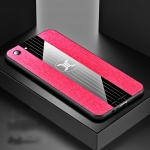 For  OPPO A83 XINLI Stitching Cloth Textue Shockproof TPU Protective Case(Red)