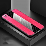 For OPPO R9 XINLI Stitching Cloth Textue Shockproof TPU Protective Case(Red)