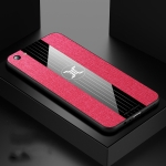 For OPPO R9S Plus XINLI Stitching Cloth Textue Shockproof TPU Protective Case(Red)