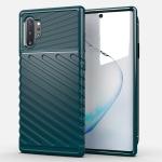 For Galaxy Note 10 Plus Thunderbolt Shockproof TPU Soft Case(Dark Green)