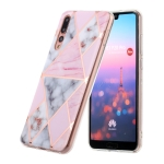 For Huawei P20 Pro Hot Stamping Geometric Marble IMD Craft TPU Protective Case(Rhombus)