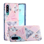 For Huawei P30 Hot Stamping Geometric Marble IMD Craft TPU Protective Case(Rhombus)