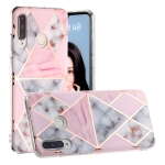 For Huawei P30 Lite Hot Stamping Geometric Marble IMD Craft TPU Protective Case(Rhombus)