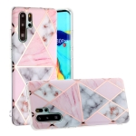 For Huawei P30 Pro Hot Stamping Geometric Marble IMD Craft TPU Protective Case(Rhombus)