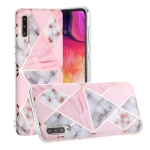 For Galaxy A50s Hot Stamping Geometric Marble IMD Craft TPU Protective Case(Rhombus)