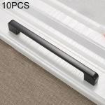 10 PCS 6613C-192 Simple Cabinet Door Handle Drawer Wardrobe Zinc Alloy Handle (Black)