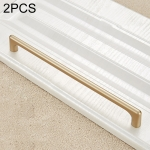 2 PCS 9011-192 Modern Simple Cabinet Door Handle Drawer Wardrobe Zinc Alloy Handle (Gold)