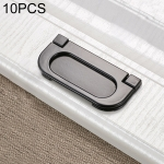 10 PCS 1052C-64 Simple Cabinet Door Handle Drawer Wardrobe Zinc Alloy Handle (Black)
