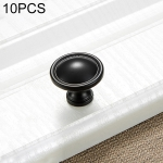 10 PCS 4121 Simple Cabinet Door Handle Drawer Wardrobe Zinc Alloy Handle (Black)