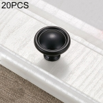 20 PCS 4121C Simple Cabinet Door Handle Drawer Wardrobe Zinc Alloy Handle (Black)