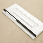 2049-1200 Drawer Cabinet Door Aluminum Alloy Handle Straight Door Handle (Black)