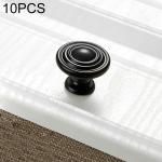 10 PCS 6230 Simple Cabinet Door Handle Drawer Wardrobe Zinc Alloy Handle (Black)