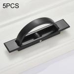 5 PCS 4206-85 Tatami Hidden Embedded Rotating Flip Cover Button(Black)