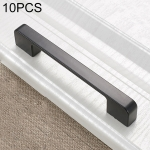 10 PCS 6613C-128 Simple Cabinet Door Handle Drawer Wardrobe Zinc Alloy Handle (Black)