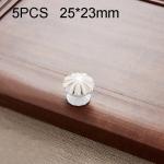5 PCS 6203 Cabinet Wardrobe Drawer Zinc Alloy Handle (White)