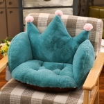 Home Office Supplies Crown Shape Rabbit Plush Non-slip Cushion Pillow, size: 55 x 40 x 40cm (Green)