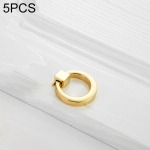 5 PCS 4201 Stainless Steel Single Hole Closet Cabinet Handle(Gold)