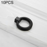 5 PCS 4201 Stainless Steel Single Hole Closet Cabinet Handle(Black)