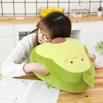 Cartoon Avocado Shape Stretch Velvet Hand Warmer Plush Pillow Stuffed Toy, Size: 50 x 33cm