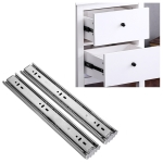 10 inches 3-section Mute Stainless Steel Sliding Drawer Slides Ball Slide Rail Length: 25cm