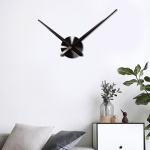 Creative DIY Stainless Steel Wall Clock Home Office Decoration (Black)
