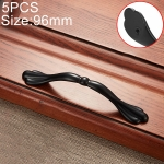 5 PCS 6555-96 Simple Archaistic Zinc Alloy Handle for Cabinet Wardrobe Drawer Door, Hole Spacing: 96mm