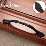 5 PCS 6555-128 Simple Archaistic Zinc Alloy Handle for Cabinet Wardrobe Drawer Door, Hole Spacing: 128mm