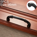 5 PCS 6569-96 Simple Archaistic Zinc Alloy Handle for Cabinet Wardrobe Drawer Door, Hole Spacing: 96mm